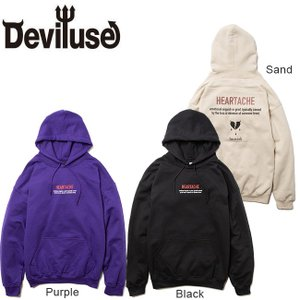DEVILUSE Heartache Pullover Hooded Sweat Black Pur...