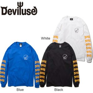 DEVILUSE Draw LS T-shirts Black White Blue デビルユース ...