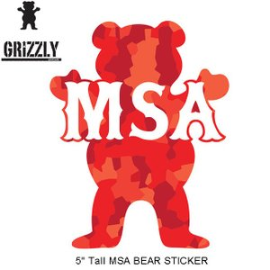 GRIZZLY MSA BEAR STICKER(グリズリー ステッカー)16(SKATEBOARD スケートボード スケボー)|stormy-japan