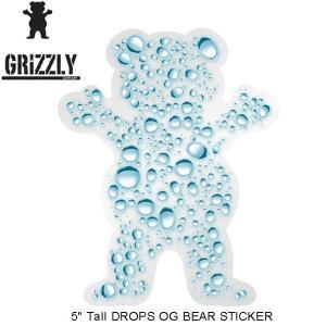 GRIZZLY DROPS OG BEAR STICKER(グリズリー ステッカー)16(SKATEBOARD スケートボード スケボー)|stormy-japan