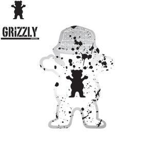 GRIZZLY Boo Johnson Splatter Sticker(グリズリー ステッカー)16f(SKATEBOARD スケートボード スケボー)|stormy-japan
