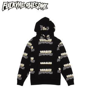 FUCKING AWESOME GOD BLESS FA HOODIE SWEAT BLACK ファッキング オウサム プルオーバー フードスエット パーカー ブラック 18h|stormy-japan