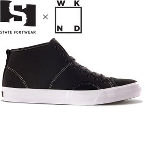 STATE FOOTWEAR x WKND HARLEM UP TOWN SKATEBOARD SHOES BLACK SILVER ステート フットウエア ウィークエンド スケートボード スケボー シューズ 19f|stormy-japan