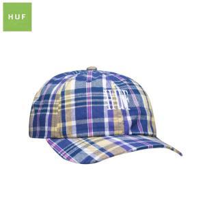HUF CATALINA CURVED VISOR HAT STRAPBACK CAP INSIGNIABLUE ハフ チェック ストラップバック キャップ 帽子 ブルー 19m|stormy-japan