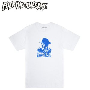 FUCKING AWESOME NOBODY KNOWS SS TEE WHITEBLUE ファッキング オウサム 半袖 Tシャツ ホワイトブルー 19s|stormy-japan