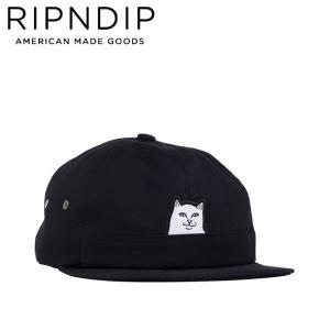 RIPNDIP LORD NERMAL 6 PANEL POCKET STRAPBACK CAP BLACK リップンディップ ストラップバック キャップ 帽子 ブラック 19m|stormy-japan