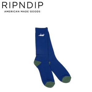 RIPNDIP CASTANZA SOCKS NAVYHUNTERGREEN リップンディップ ソックス 靴下 メンズ ネイビーハンターグリーン 18h|stormy-japan