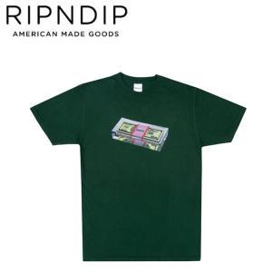 RIPNDIP FAT STACK SS TEE HUNTERGREEN リップンディップ 半袖 Tシャツ ハンターグリーン 19m|stormy-japan