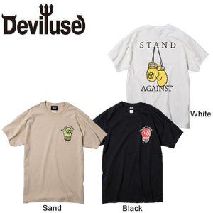 DEVILUSE Stand Against T-shirts Black White Sand デビルユース 半袖 Tシャツ ブラック ホワイト サンド 19aw|stormy-japan