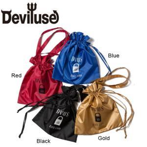 DEVILUSE Padlock Pocket Eco Totobag Red Blue Black Gold デビルユース ポケット エコ トート バッグ レッド ブルー ブラック ゴールド 19aw|stormy-japan