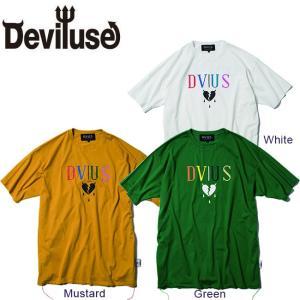 DEVILUSE Hearataches Big T-shirts White Green Mustard デビルユース 半袖 ビッグ Tシャツ ホワイト グリーン マスタード 19aw|stormy-japan