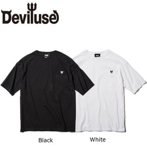 DEVILUSE Heartaches Pocket Big T-shirts White Black デビルユース 半袖 ポケット ビッグ Tシャツ ホワイト ブラック 19aw|stormy-japan