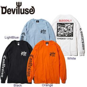 DEVILUSE CCTV LS T-shirts Black White LightBlue Orange デビルユース 長袖 ロングスリーブ Tシャツ ロンT ブラック ホワイト ライトブルー オレンジ 19aw|stormy-japan