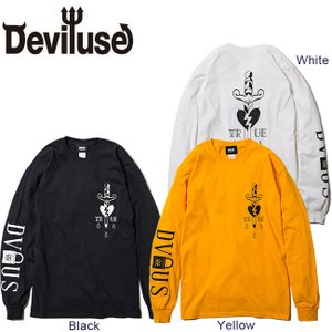 DEVILUSE TRUE LS T-shirts Black White Yellow デビルユース 長袖 ロングスリーブ Tシャツ ロンT ブラック ホワイト イエロー 19aw|stormy-japan