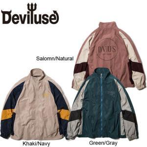 DEVILUSE Nylon Track JACKET SalomnNatural KhakiNavy GreenGray デビルユース ナイロン トラック ジャケット サロモン カーキ グリーン 19aw|stormy-japan