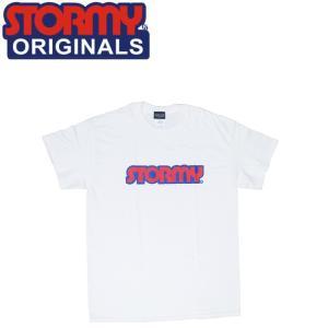 ストーミー STORMY 半袖 tシャツ LOGO SS T-SHIRTS WHITENAVYRED オリジナル ホワイトネイビーレッド 20f|stormy-japan
