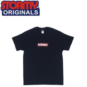 STORMY BOX LOGO SS T-SHIRTS BLACK ストーミーオリジナル 半袖 Tシャツ ブラック 19s|stormy-japan