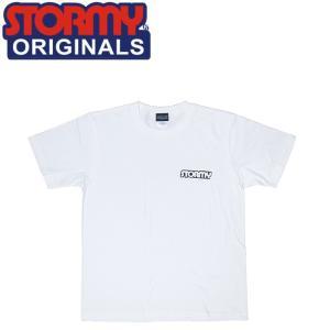 STORMY MINI LOGO S/S T-SHIRTS(WHITE/BLACK)(ストーミーオリジナル 半袖 Tシャツ ホワイトブラック)17s stormy-japan