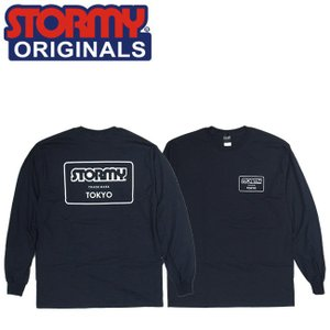 STORMY MARK LOGO LS TSHIRTS BLACKWHITE ストーミーオリジナル 長袖 ロングスリーブTシャツ ロンT ブラックホワイト 19s|stormy-japan