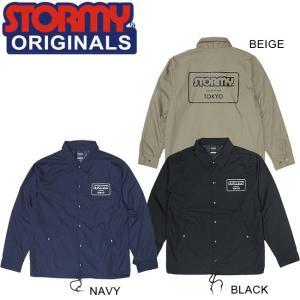 STORMY MARK LOGO TC OG COACH JACKET BLACK NAVY BEIGE ストーミーオリジナル コーチジャケット ブラック ネイビー ベージュ 18f|stormy-japan