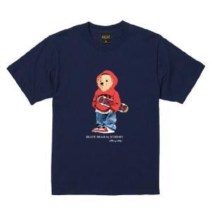 ストーミー STORMY tシャツ BEAR S/S T-SHIRTS NAVY 半袖Tシャツ ネイビー|stormy-japan