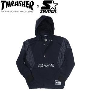 THRASHER x STARTER ANORAK JACKET BLACK スラッシャー スターター アノラック ジャケット ブラック 18h|stormy-japan