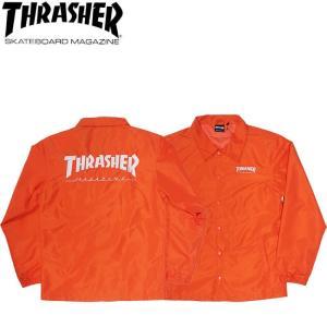 THRASHER HOMETOWN COACH JACKET ORANGE スラッシャー コーチ ジャケット オレンジ 18h|stormy-japan