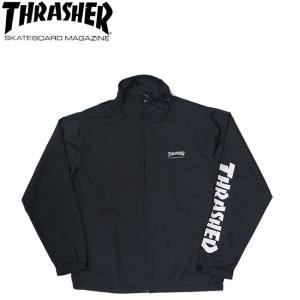 THRASHER MAG STAND FULL ZIP JACKET BLACKBLACK スラッシャー マグ スタンド フルジップ ジャケット ブラック 19s|stormy-japan