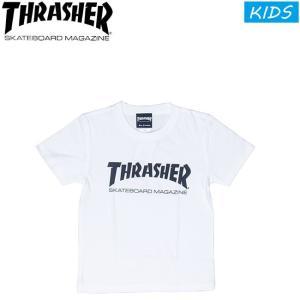 THRASHER MAG LOGO KIDS SS TEE WHITEBLACK スラッシャー マグ ロゴ 半袖 Tシャツ キッズ 子供用 ホワイトブラック 18m|stormy-japan