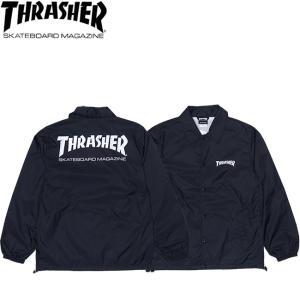THRASHER MAG LOGO COACH JACKET BLACK スラッシャー マグロゴ コーチ ジャケット ブラック 18h|stormy-japan