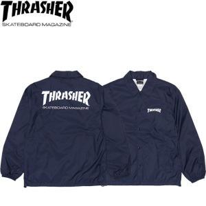 THRASHER MAG LOGO COACH JACKET NAVY スラッシャー マグロゴ コーチ ジャケット ネイビー 18h|stormy-japan