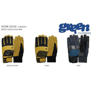 ★30%OFFセール★GREEN CLOTHING WORK GLOVE(グリーンクロージング ワークグローブ)15/16(SNOWBOARD GLOVE スノーボード スノボー)|stormy-japan