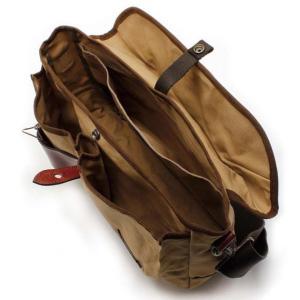 ショルダーバッグ 鞄 メンズ 帆布 ベージュ キャンバス QUOKKA-L Angler's House|stoutfitters|02