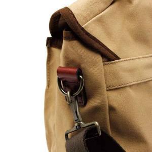 ショルダーバッグ 鞄 メンズ 帆布 ベージュ キャンバス QUOKKA-L Angler's House|stoutfitters|03