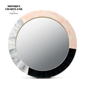 大理石風 鏡 ミラー 卓上 壁掛け 玄関鏡  丸形 円形 おしゃれ ウォールミラー Goody Grams MIRROR BADARISH|stoutfitters