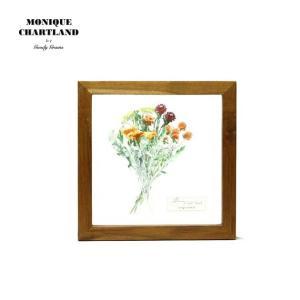 アートフレーム ドライフラワー 額縁 額 アートポスター 木製 おしゃれ Goody Grams GLASS FRAME FLOWER ORANGE|stoutfitters