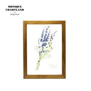アートフレーム ドライフラワー 額縁 額 アートポスター 木製 おしゃれ Goody Grams GLASS FRAME FLOWER PURPLE|stoutfitters