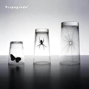 グラス 3点セット コップ 虫 昆虫 おもしろ雑貨 おしゃれ プロパガンダ PROPAGANDA GLASS-SPIDER WEB SET stoutfitters