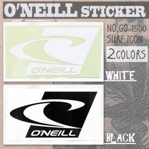 送料100円可能 O'NEILL(オニール) STICKER SURF ICON 22cm 品番:GO-1500 サーフアイコン ロゴステッカー カッティングタイプ 型抜き