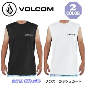 19 VOLCOM ボルコム タンクトップ 半袖 ラッシュガード メンズ SURF MUSCLE TANK TEE 2019年春夏モデル 品番 N37219G1 日本正規品 stradiy