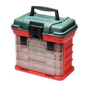 小物の分別収納に便利な、パーツケースを4個収納したツールボックスです。ケース上部は工具などを収納でき...