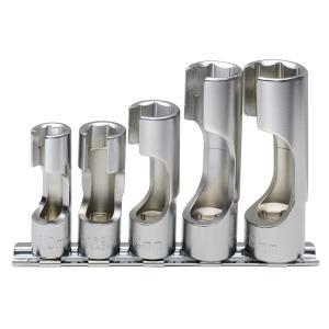 フレアナットソケットセット 5ピースは、配管のフレアナットや各種センサー等の脱着に適したディープタイ...