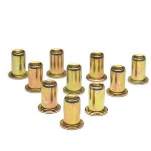 ナットリベット スチール 10ピース M6×1.0 STRAIGHT/12-7552 (STRAIGHT/ストレート)