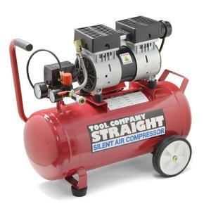 エアーコンプレッサー 100V 1馬力 30L 静音オイルレス STRAIGHT/17-6019 (STRAIGHT/ストレート)|straight-toolcompany