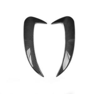 【商品説明】  リアバンパー用ダクトカーボンガーニッシュパネル左右2点販売  製品材質:CFRP ウ...