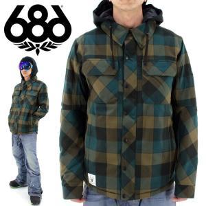 686 スノーウェア スノボジャケット シックスエイトシックス ネルシャツジャケット  WOODLAND INS JACKET 通販 即納 人気 ロクハチ SIX EIGHT SIX シンプル|streetbros