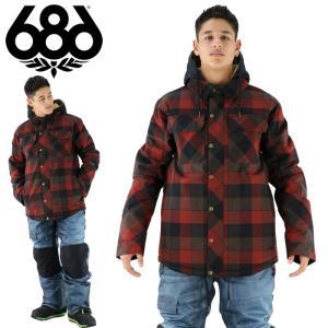 686 シックスエイトシックス メンズウエア ネルシャツ ボードウェア レッド 赤 ボードウェア ジャケット|streetbros