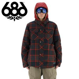686 メンズ スノージャケット (ジャケット単品) スノボウェア スノボーウエア チェック柄 ネルシャツ風 シックスエイトシックス ロクハチロク スノーボード|streetbros