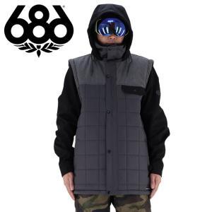 686 スノーボードウエア メンズ スノボーウエア キルティング 耐久性撥水 スノボウェア 中綿|streetbros