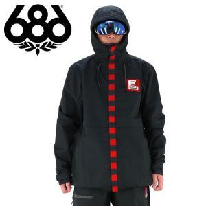 ロクハチロク メンズ スノージャケット (ジャケット単品) 686 スノボウェア ブラック スノボージャケット|streetbros